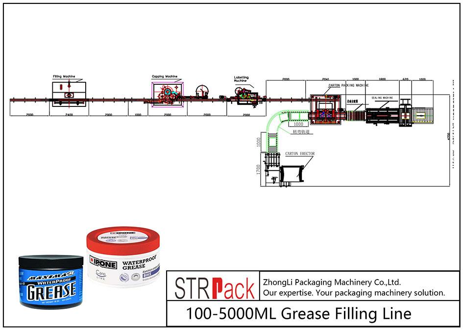 Automatisk 100ML-5L fettfyllingslinje