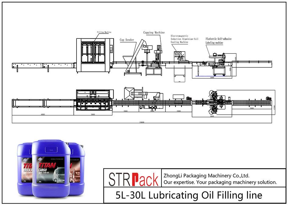 Automatisk 5L-30L påfyllingsledning for smøreolje