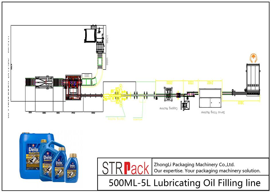 Automatisk påfyllingslinje for 500ML-5L smøreolje