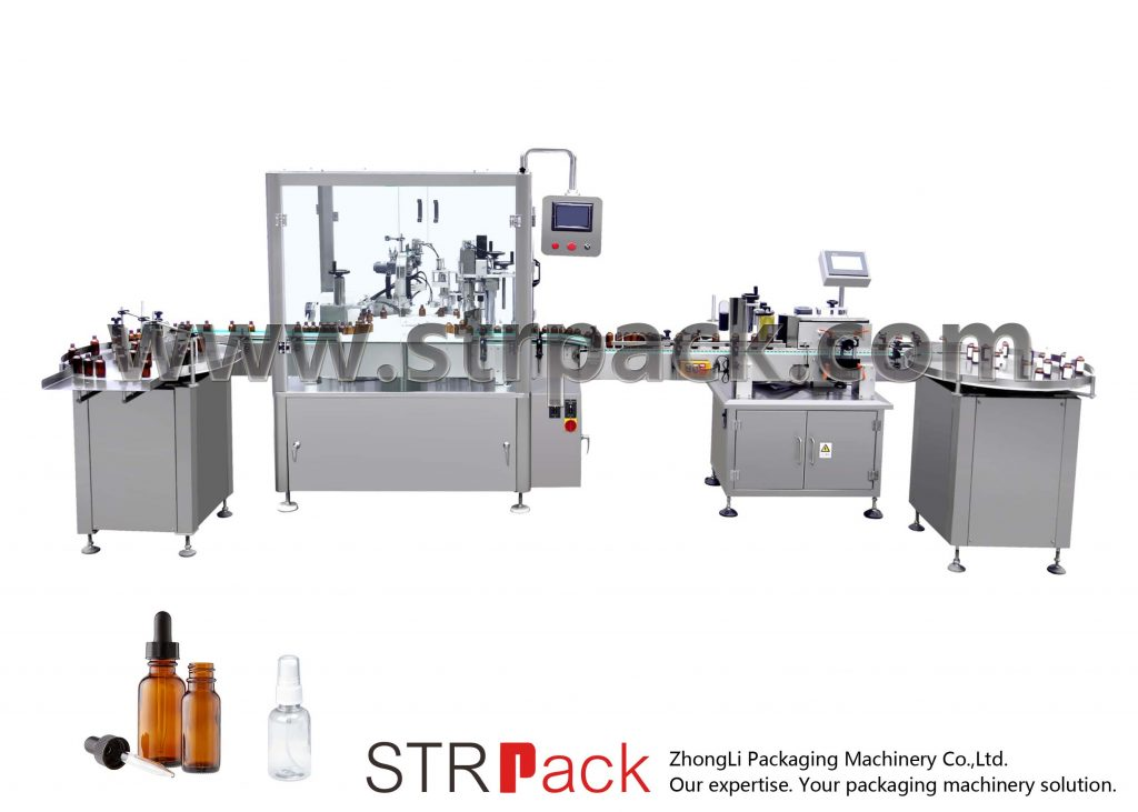 Automatisk fyllings- og avkortingsmaskin for dropperflaske