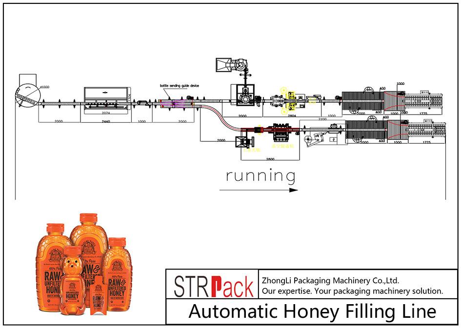 Automatisk honningfyllingslinje