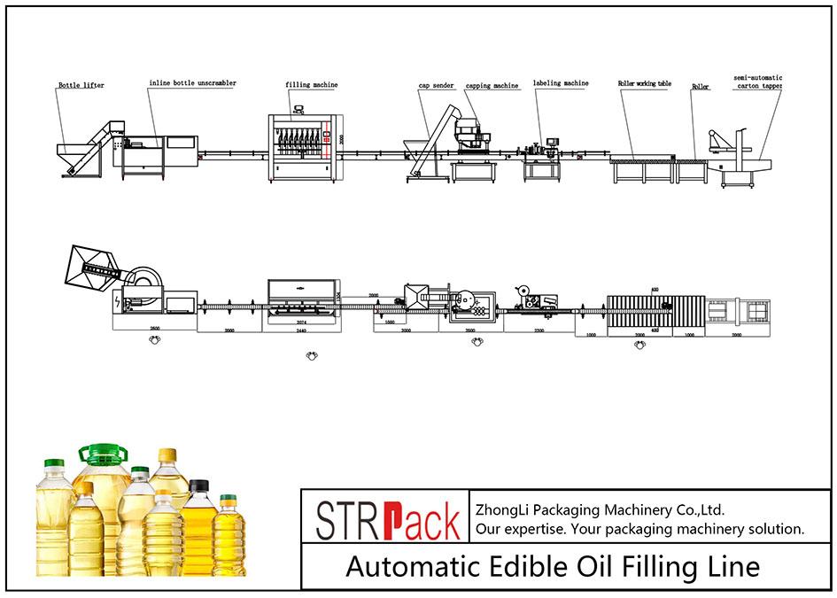 Automatisk påfyllingslinje for spiselig olje
