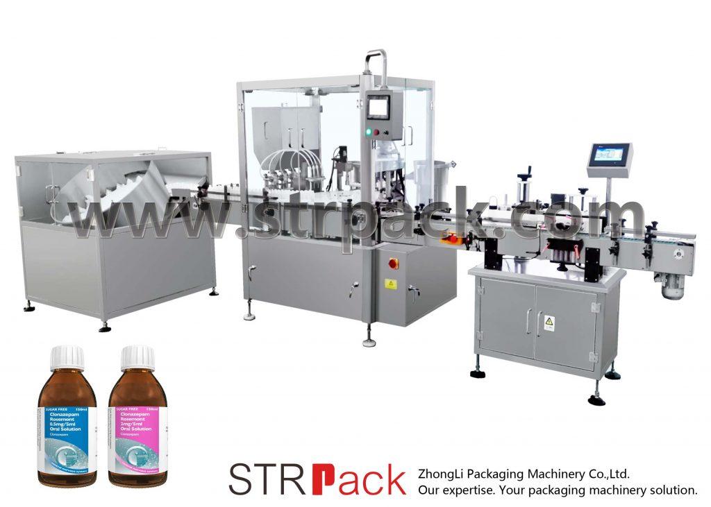 Fyllings- og avkortingsmaskin til oral flytende sirup