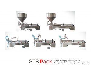 Semi automatisk stempel flytende fyllemaskin